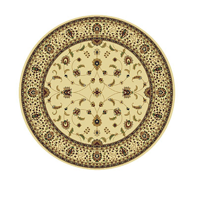 Rug One Imports Royal Tradition 8 Round Cream Area Rugs