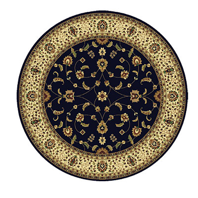Rug One Imports Royal Tradition 8 Round Midnight Area Rugs