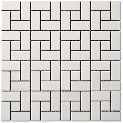 Adex USA Coordinating Floor - Porcelain Pinwheel Mosaic White (Sample) Tile & Stone