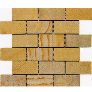 Alfagres Tumbled Marble Brick Patterns Gold Lime Stone Tile & Stone
