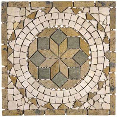 Alfagres Tumbled Marble Medallions Boticcino V Royal Dorado Tile & Stone