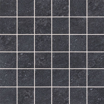 American Olean Allora 3 x 3 Mosaic Unpolished Carbone Tile & Stone