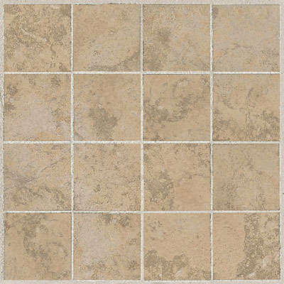 American Olean Amber Valley 3 x 3 Mosaic Millstone Beige Tile & Stone