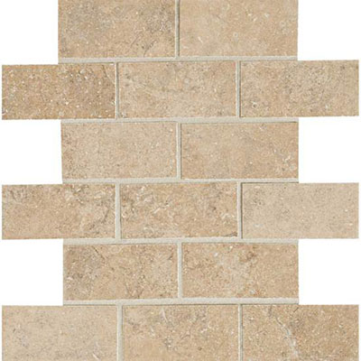 American Olean Avante Brick Joint Mosaic 2 x 4 Cestino Tile & Stone