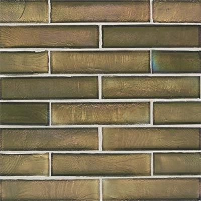 American Olean Candalara Glass Brick Mosaic English Ivy Tile & Stone