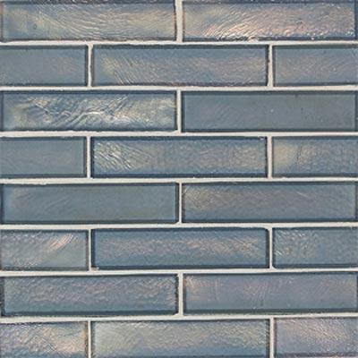 American Olean Candalara Glass Brick Mosaic Silver Lake Tile & Stone