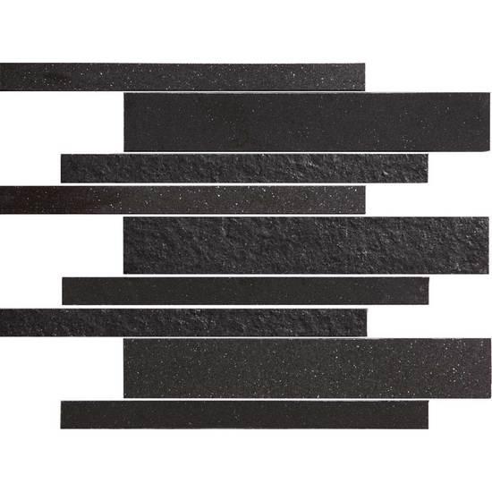 American Olean Decorum Modern Liner Mosaic Distinct Black Tile & Stone