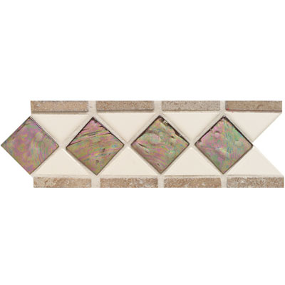 American Olean Designer Elegance Accents Opalescence Gloss Almond Smoky Topaz Mocha Accent Strip Tile & Stone