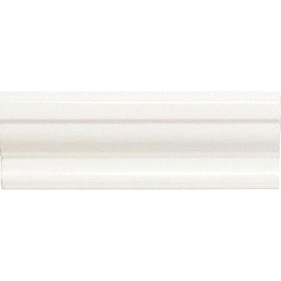 American Olean Designer Elegance Accents Ice White 2 x 6 Shelf Rail Tile & Stone