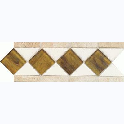 American Olean Designer Elegance Accents Opalescence Ice White Tigers Eye Azteca Listello Tile & Stone