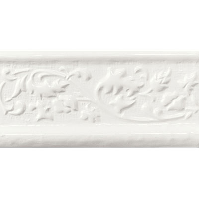 American Olean Designer Elegance Accents Ice White Orlando 2 x 8 Chair Rail Tile & Stone