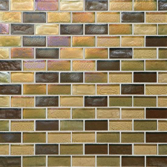 American Olean Garden Oasis Brick Joint Mosaic Afternoon Meadow Blend Tile & Stone