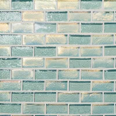 American Olean Garden Oasis Brick Joint Mosaic Soft Hydrangea Blue Mosaic Tile & Stone