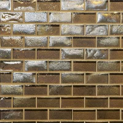 American Olean Garden Oasis Brick Joint Mosaic Twig Brown Tile & Stone