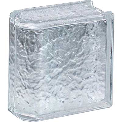 Daltile Glass Block Icescapes 8 x 8 Icescapes Endblock Tile & Stone