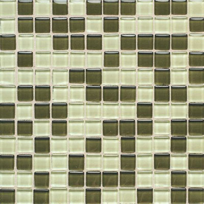 American Olean Legacy Glass Mosaic 1 x 1 Blends Green Blend Tile & Stone