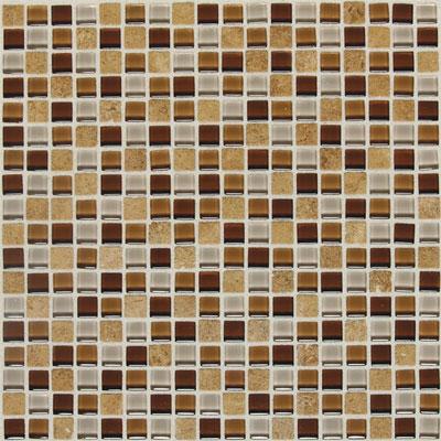 American Olean Legacy Glass Mosaic 5/8 x 5/8 Blends Wheat Field Blend Tile & Stone