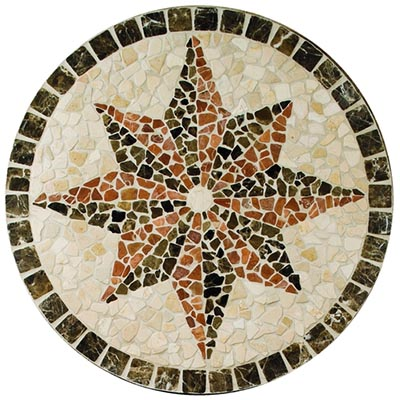 American Olean Medallions Northern Star Tumbled 32 Round Northern Star Tile & Stone