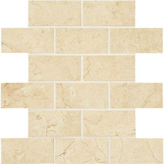 American Olean Mirasol 2 x 4 Brick Joint Mosaic Crema Laila Tile & Stone
