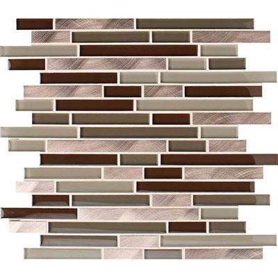 American Olean Morello Random Mosaic Topaz Tile & Stone