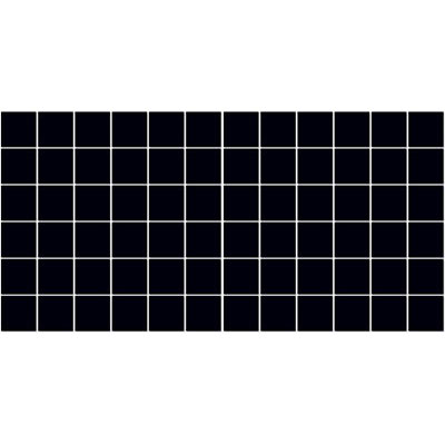 American Olean Satinbrites Glazed Ceramic 2 x 2 Black Tile & Stone