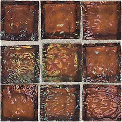 American Olean Solare Glass Mosaics Amber Tile & Stone