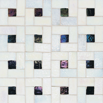 American Olean Solare Glass Pinwheel Frost/Lava Rock Tile & Stone