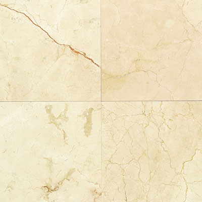 American Olean Stone Source Marble and Onyx 12 x 12 Crema Marfil Classico Honed Tile & Stone