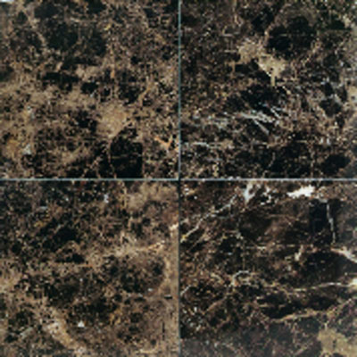 American Olean Stone Source Marble and Onyx 18 x 18 Emperador Dark Polished Tile & Stone