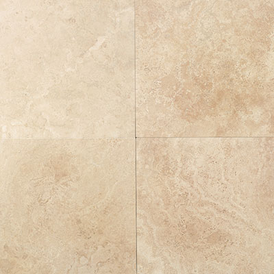 American Olean Stone Source Travertine 12 x 12 Mediterranean Ivory Honed Tile & Stone