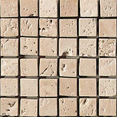 American Olean Tumbled Stone Mosaic Ivory Straight Tile & Stone