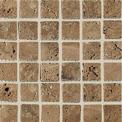 American Olean Tumbled Stone Mosaic Mocha Straight Tile & Stone