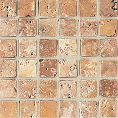 American Olean Tumbled Stone Mosaic Puerto Gold Straight Tile & Stone