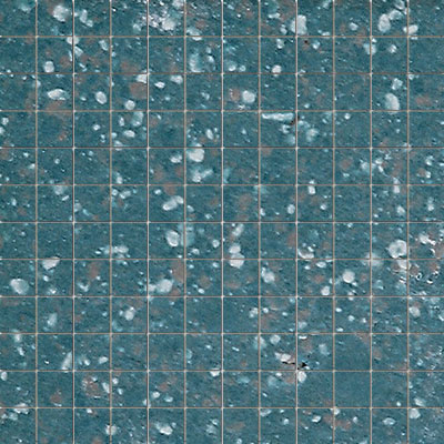 American Olean Unglazed Porcelain Mosaics with Clearface 1 x 1 Bimini-Blue Group 3 Tile & Stone