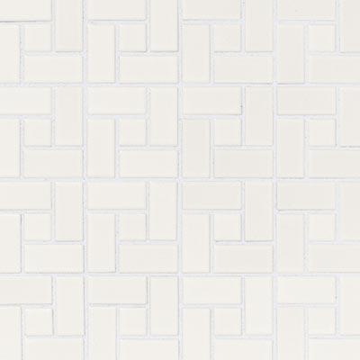 American Olean Chloe Pinwheel Mosaic Satin White Tile & Stone