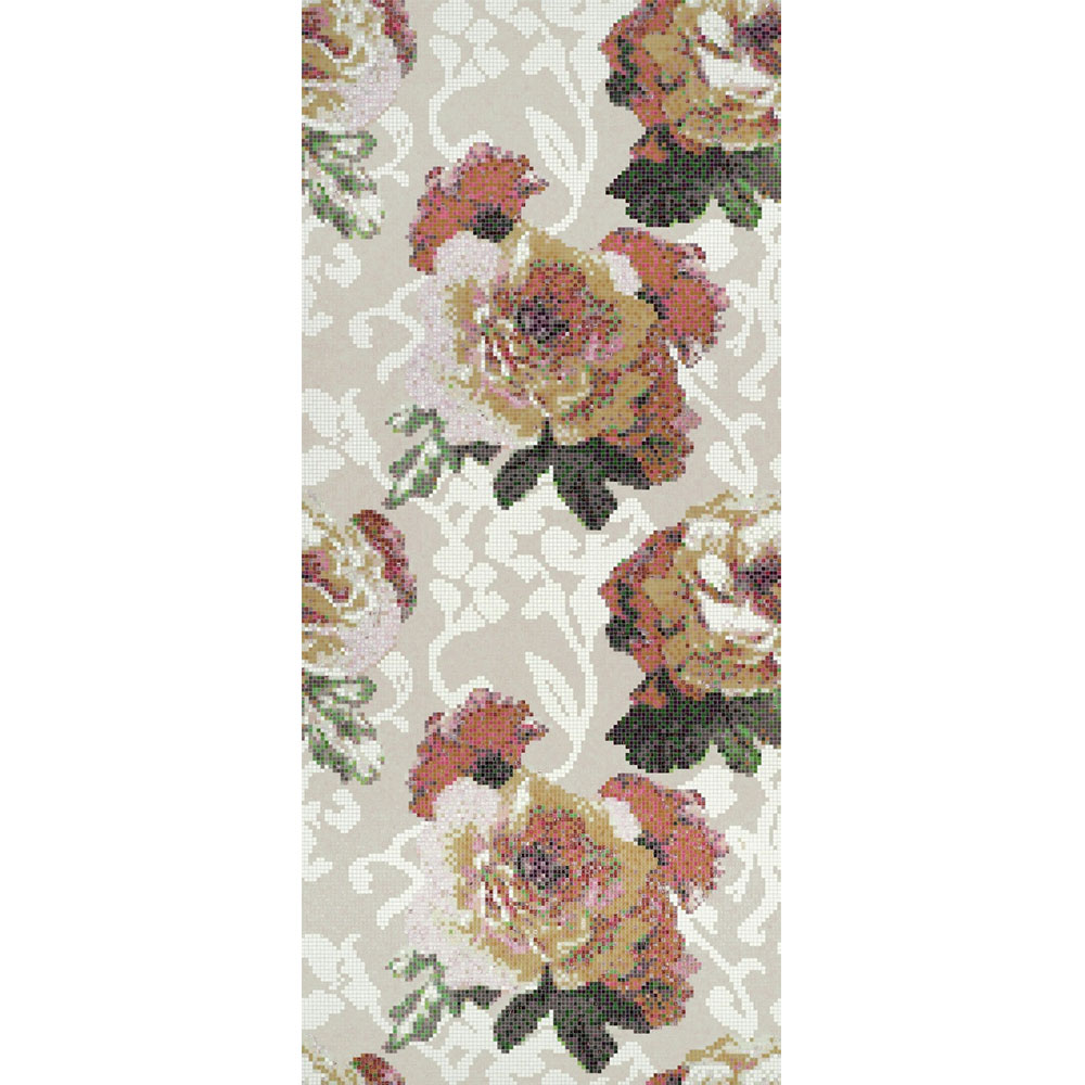 Bisazza Mosaico Decori 10 - Fleurs Grigio Tile & Stone