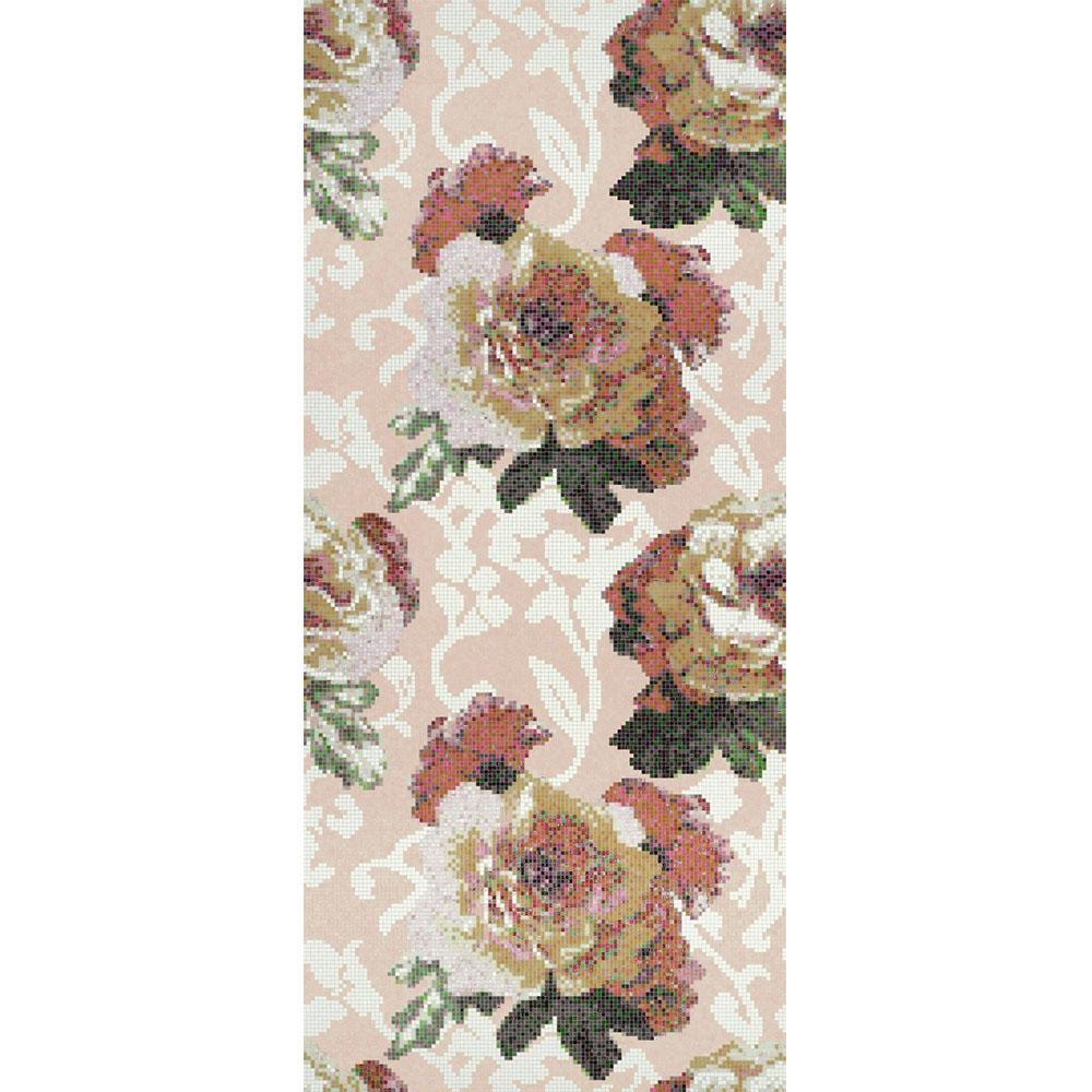 Bisazza Mosaico Decori 10 - Fleurs Rosa Tile & Stone