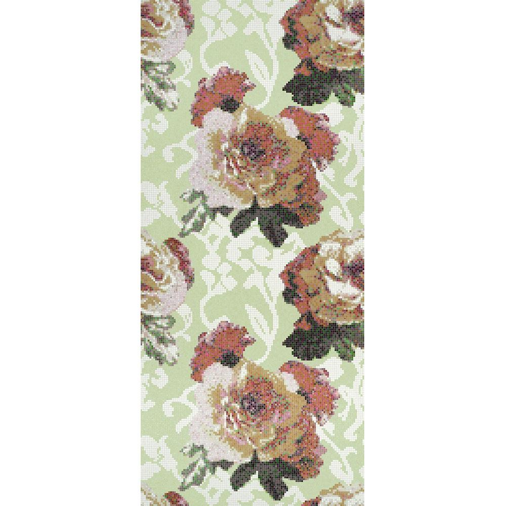 Bisazza Mosaico Decori 10 - Fleurs Verde Tile & Stone