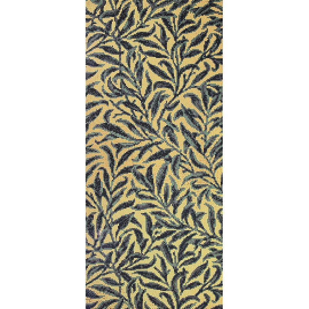 Bisazza Mosaico Decori 10 - Morris Oro Giallo Tile & Stone