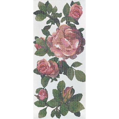 Bisazza Mosaico Decori 10 - Springrose Bianco B Tile & Stone