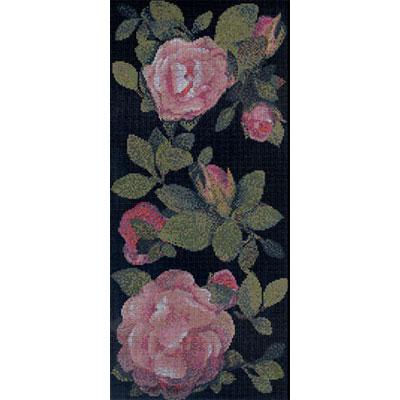Bisazza Mosaico Decori 10 - Springrose Nero A Tile & Stone