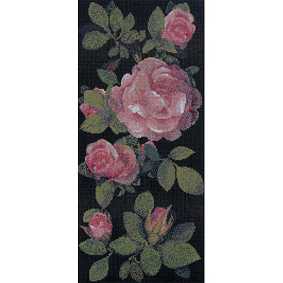 Bisazza Mosaico Decori 10 - Springrose Nero B Tile & Stone