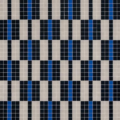 Bisazza Mosaico Decori 20 - Alternance Blue Tile & Stone