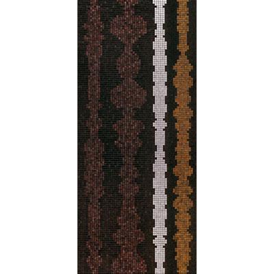 Bisazza Mosaico Decori 20 - Columns Brown B Tile & Stone