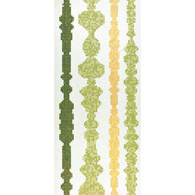 Bisazza Mosaico Decori 20 - Columns Green B Tile & Stone