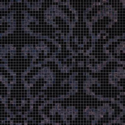 Bisazza Mosaico Decori 20 - Damasco Nero Tile & Stone