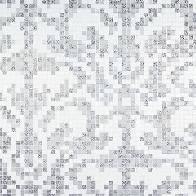 Bisazza Mosaico Decori 20 - Damasco Oro Bianco Tile & Stone