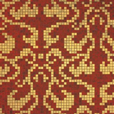 Bisazza Mosaico Decori 20 - Damasco Rosso Oro Tile & Stone