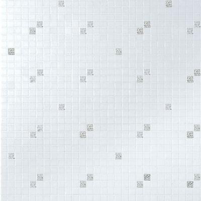 Bisazza Mosaico Decori 20 - Diagonale Bianco Oro Tile & Stone