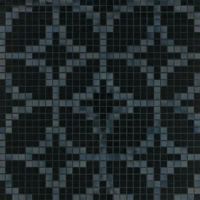 Bisazza Mosaico Decori 20 - Etoiles Nero Tile & Stone